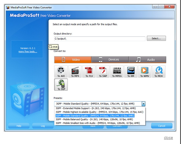 MediaProSoft Free Video Converter