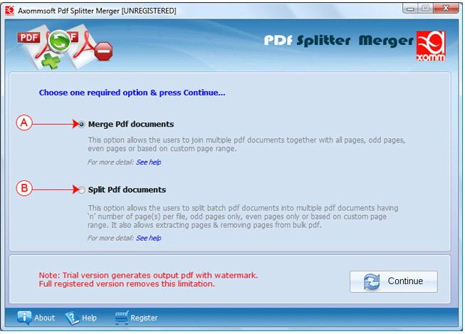 Axommsoft PDF Splitter