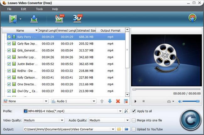 Leawo Free Video Converter