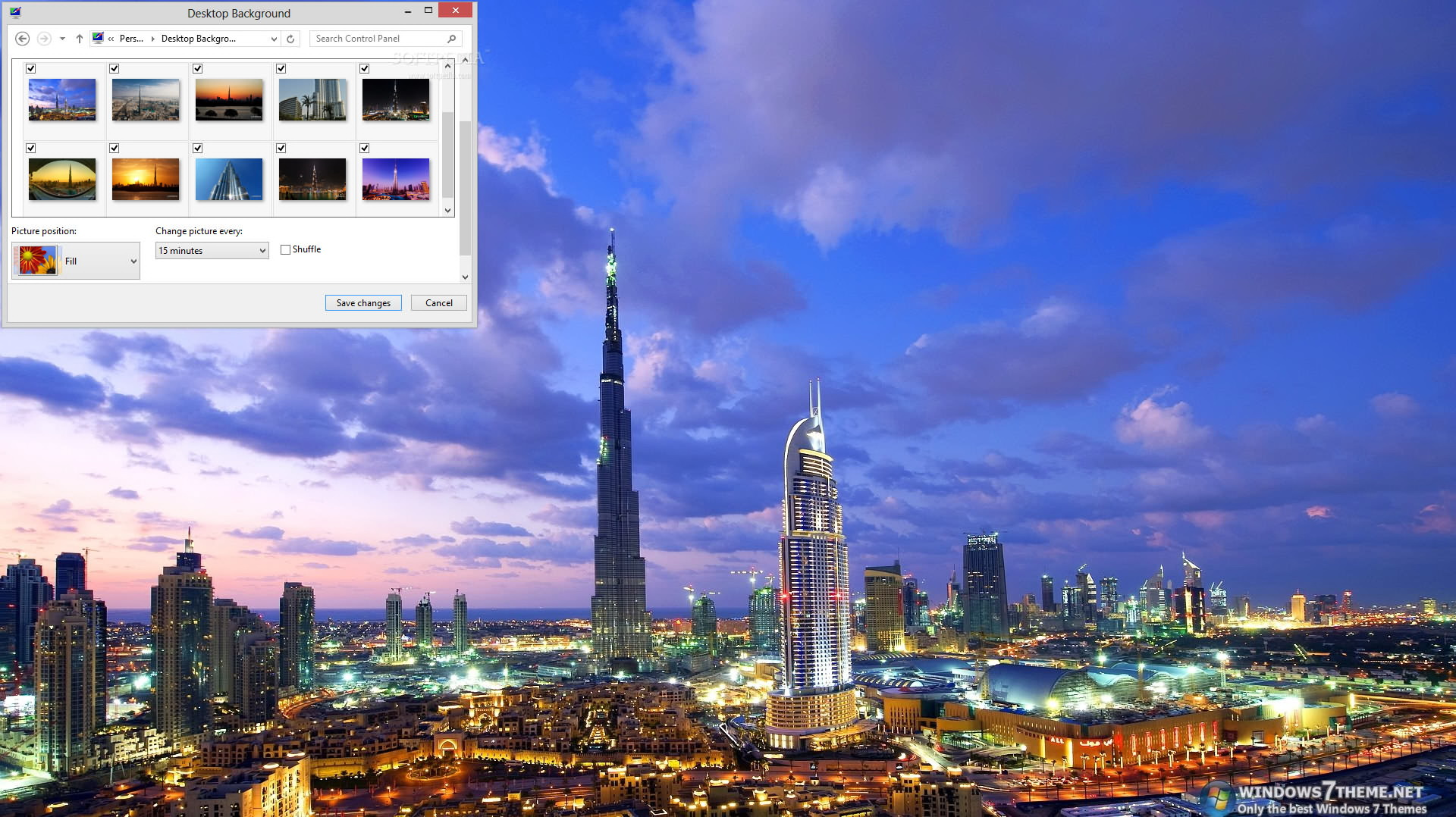 Burj Khalifa Windows 7 Theme