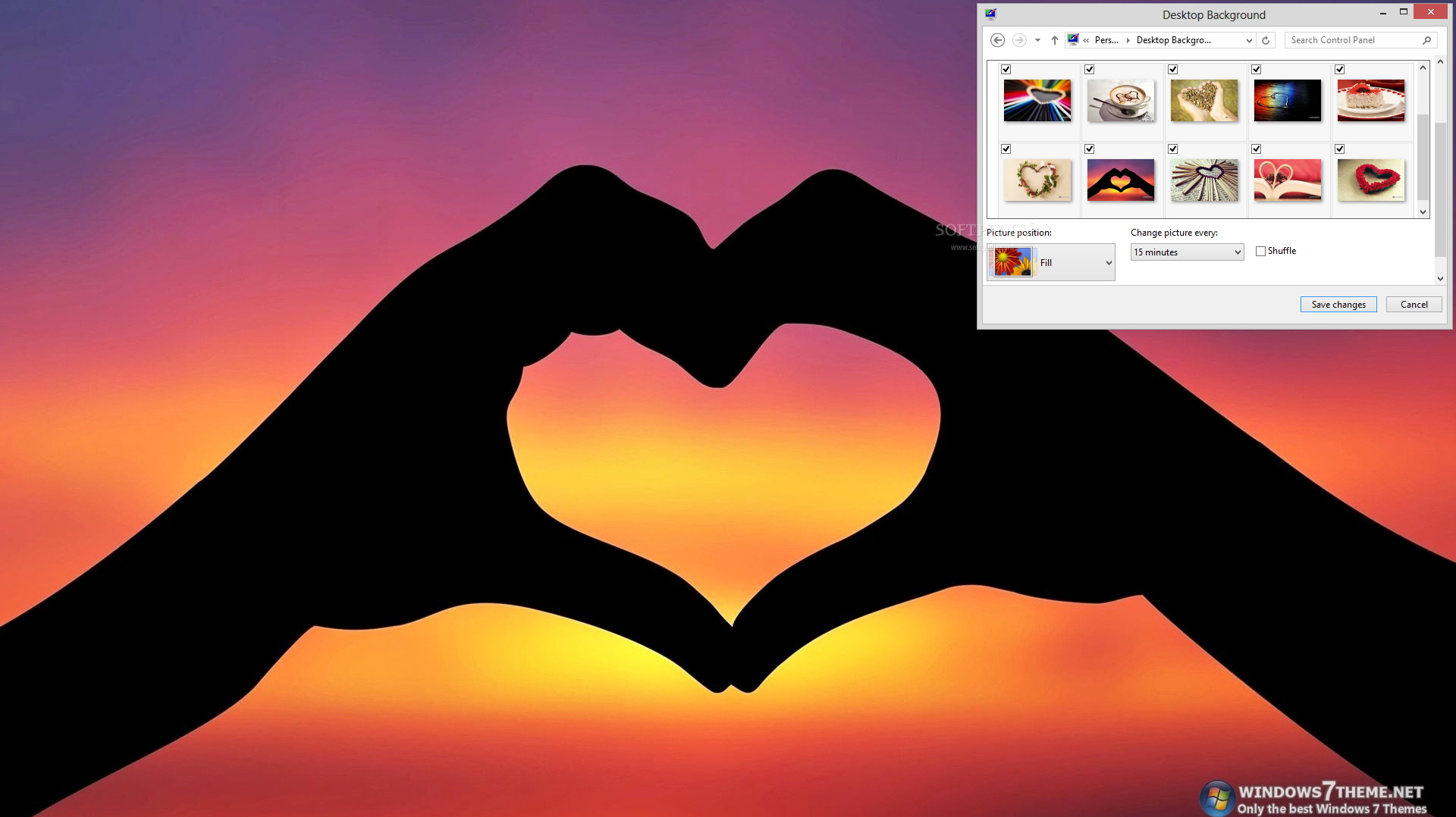 Artistic Heart Windows 7 Theme