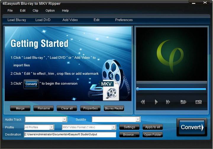 4Easysoft Blu-ray to MKV Ripper