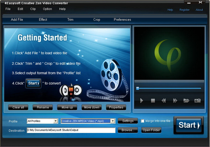 4Easysoft Creative Zen Video Converter
