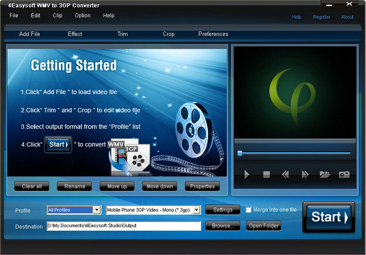 4Easysoft WMV to 3GP Converter