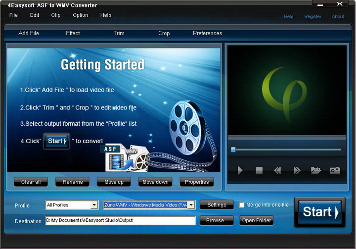 4Easysoft ASF to WMV Converter