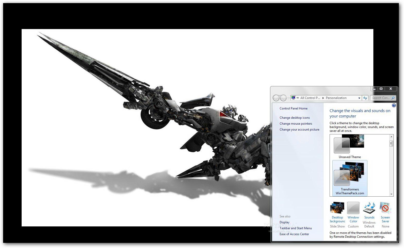 Transformers Windows Theme