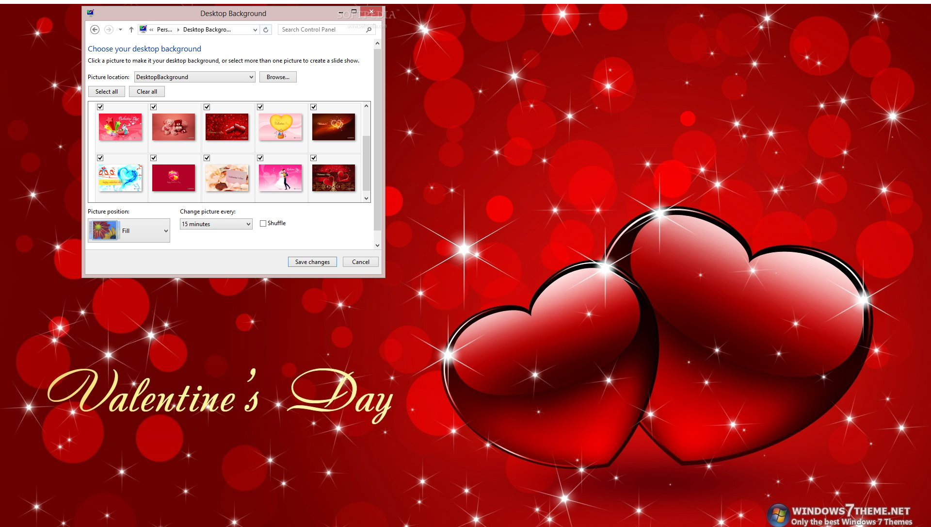 Happy Valentine's Day Windows 7 Theme