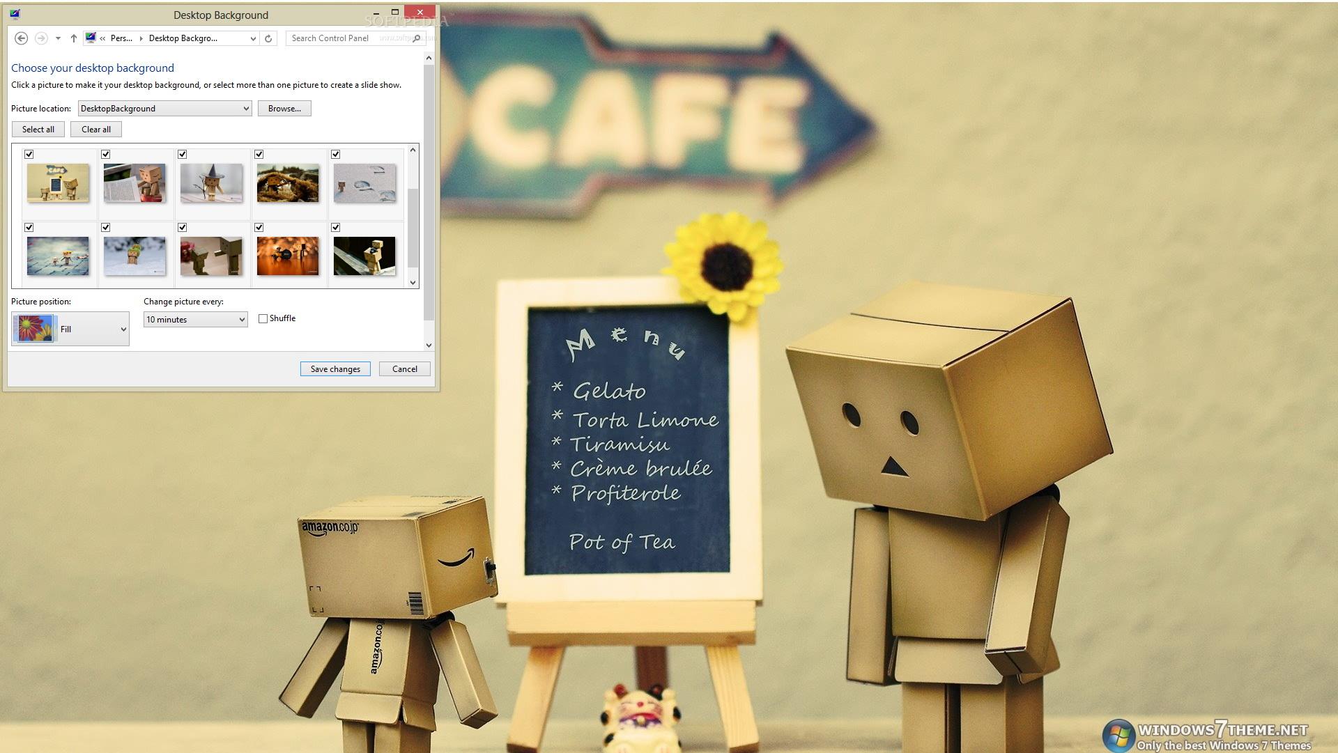 Cute Danbo Windows 7 Theme