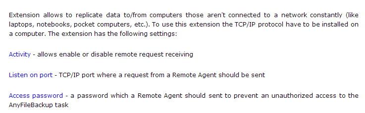 Remote Agent (client side)