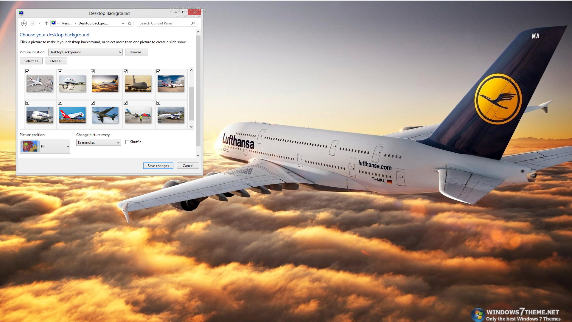 Airbus A380 Windows 7 Theme