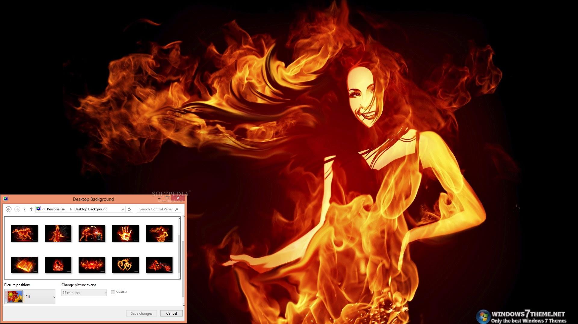 Fiery Art Windows 7 Theme