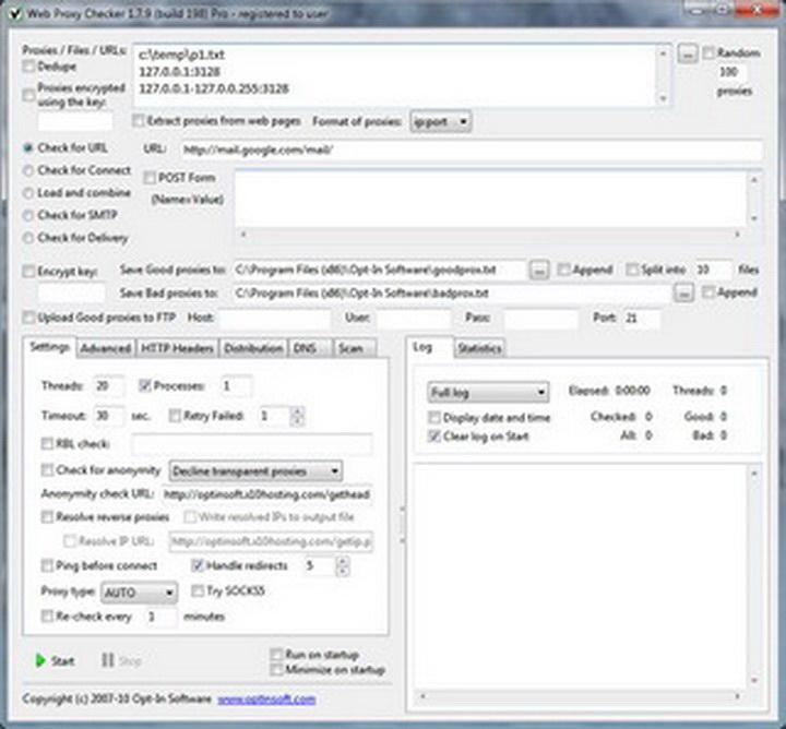 Web Proxy Checker Pro