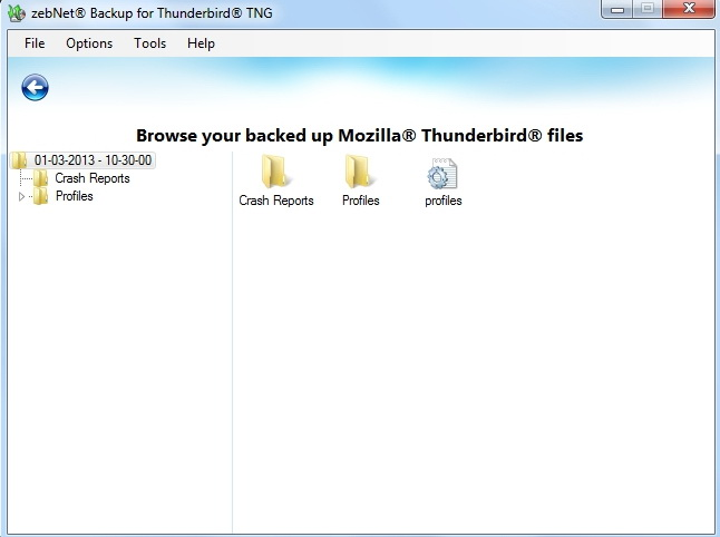 Backup for Thunderbird