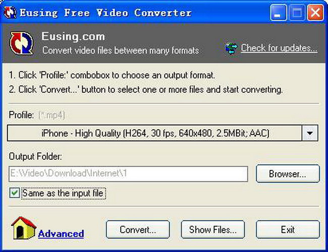 Eusing Free Video Converter Portable