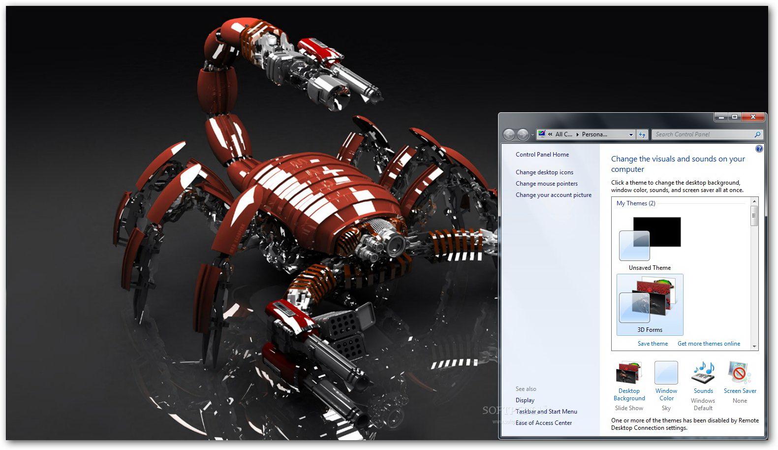 3D Forms Windows Theme