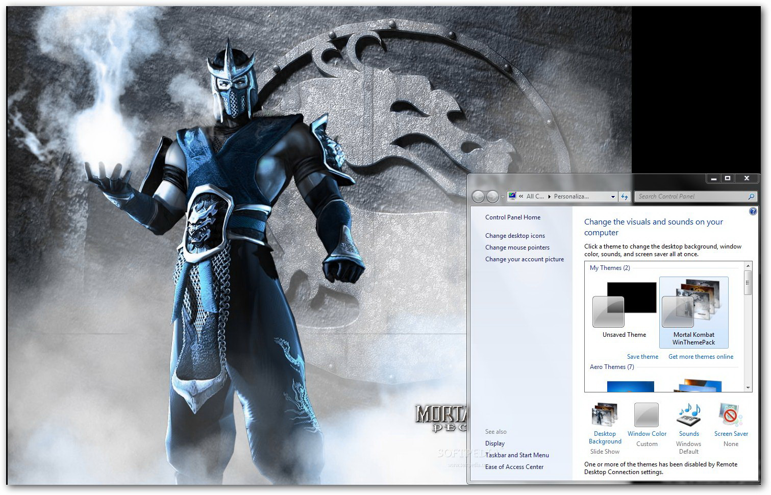 Mortal Kombat Windows Theme