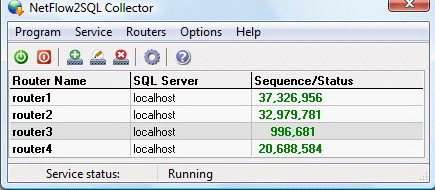 NetFlow2SQL Collector