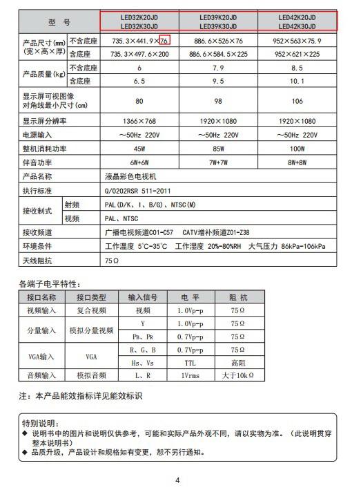 海信LED39K30JD液晶彩电使用说明书