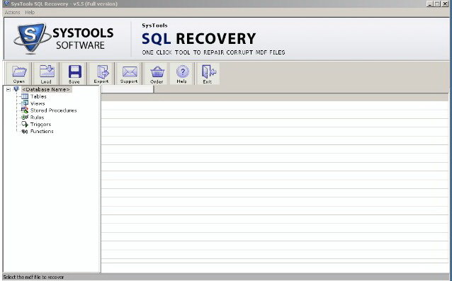 Restore MDF Files