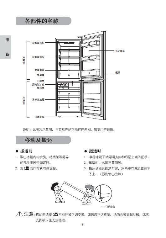 LG GR-Q24NGVB电冰箱使用说明书
