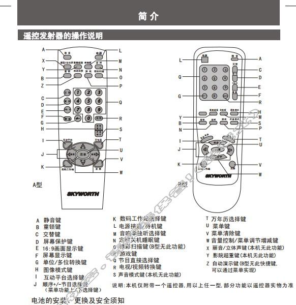 创维21N66AA(3T36机芯)彩电使用说明书