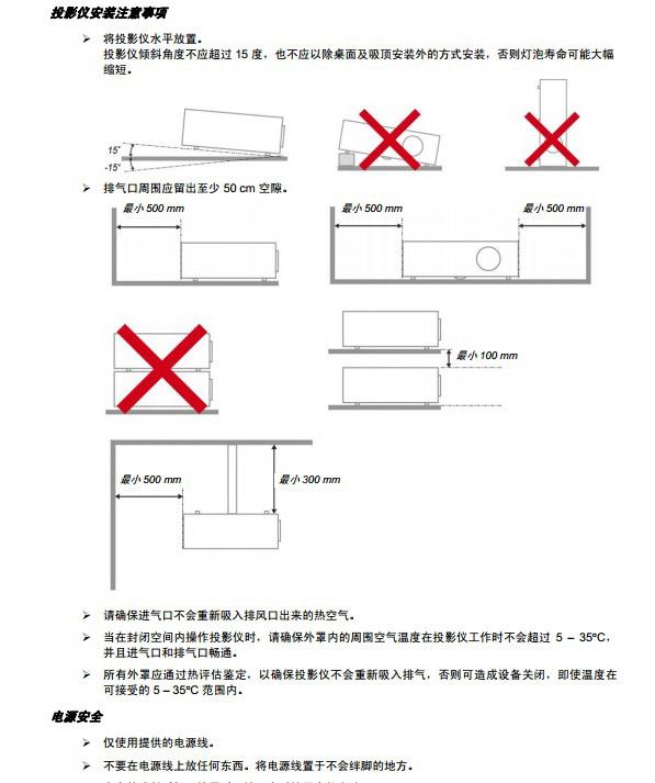 丽讯D941VX投影机使用说明书