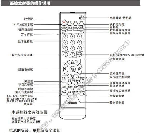 创维29T88HT(6D78机芯)彩电使用说明书