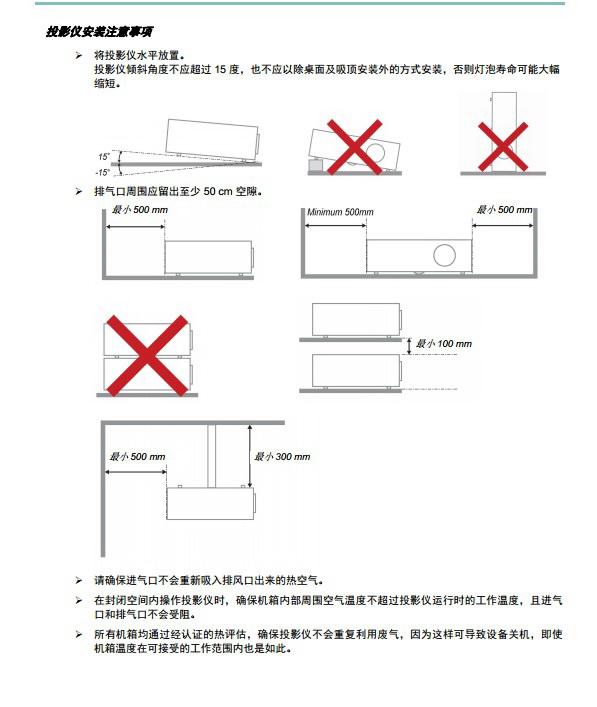丽讯D84AH投影机使用说明书