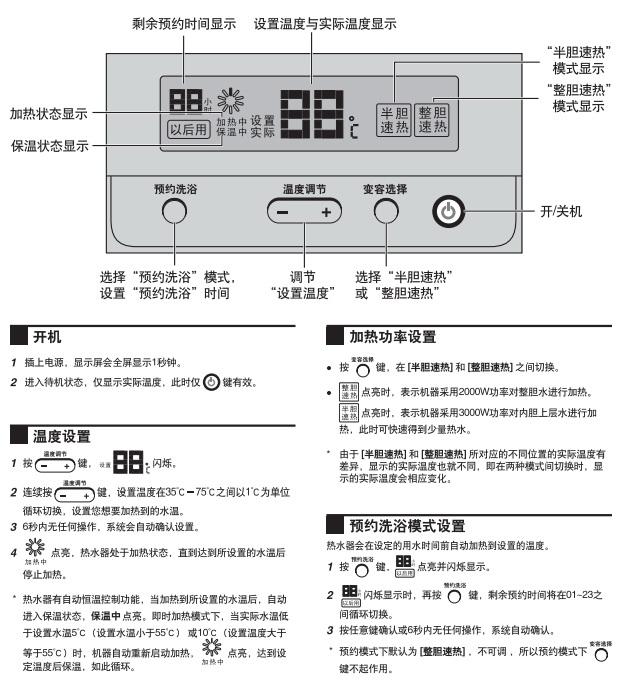 海尔ES80H-Z4(ZE)热水器使用说明书