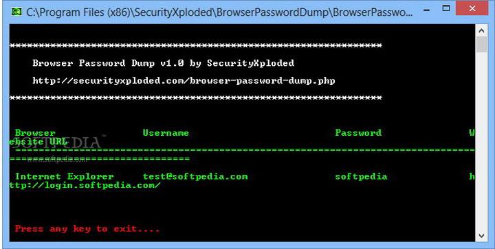 Browser Password Dump