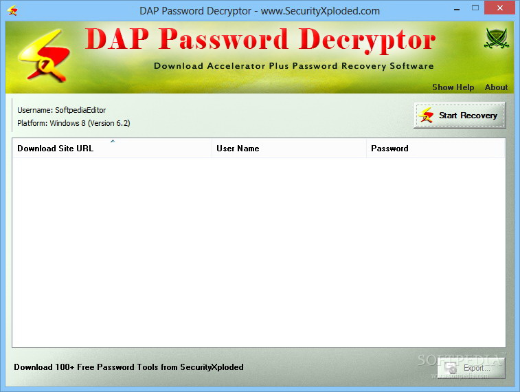 DAP Password Decryptor
