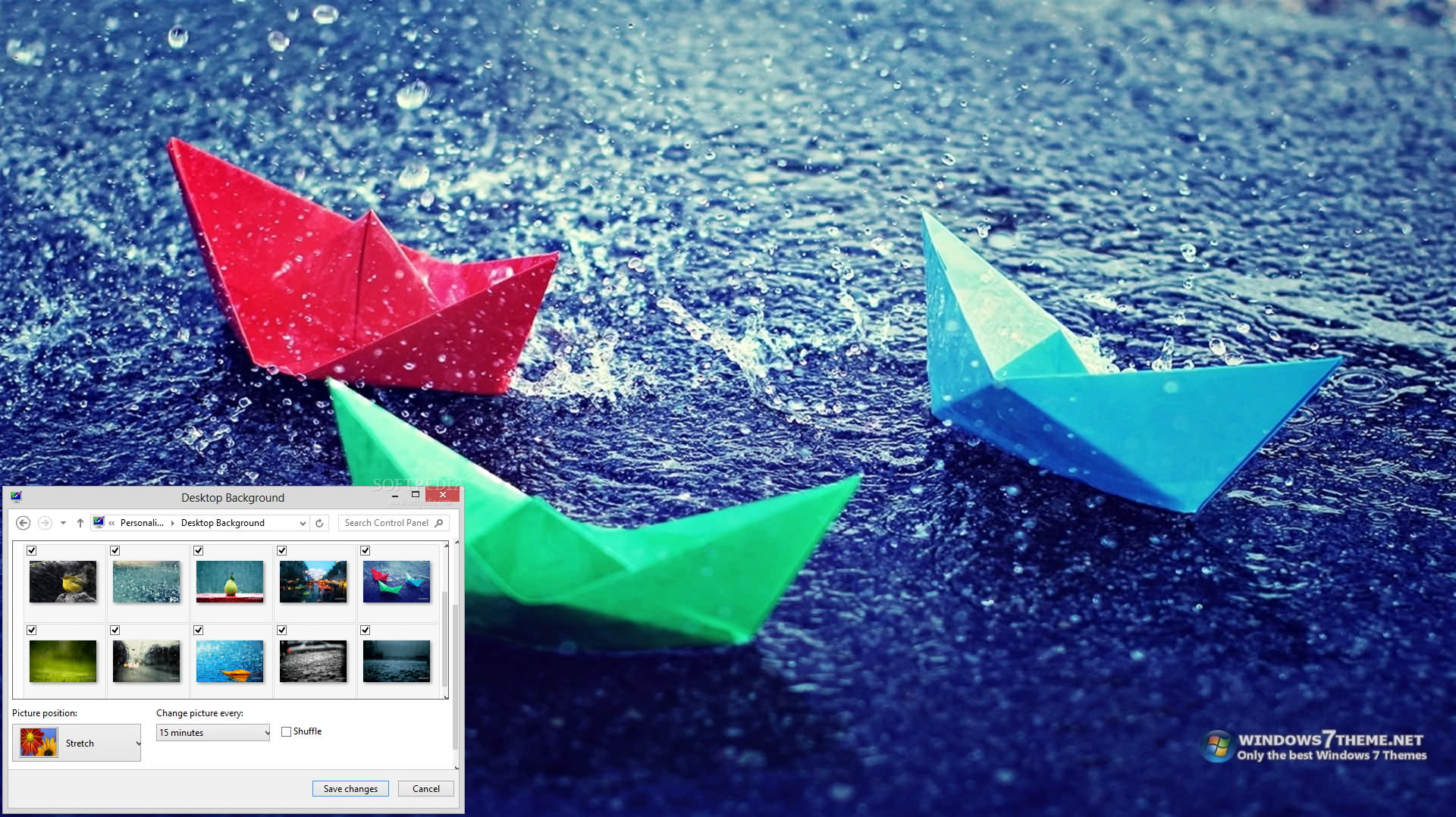 Rain Windows 7 Theme