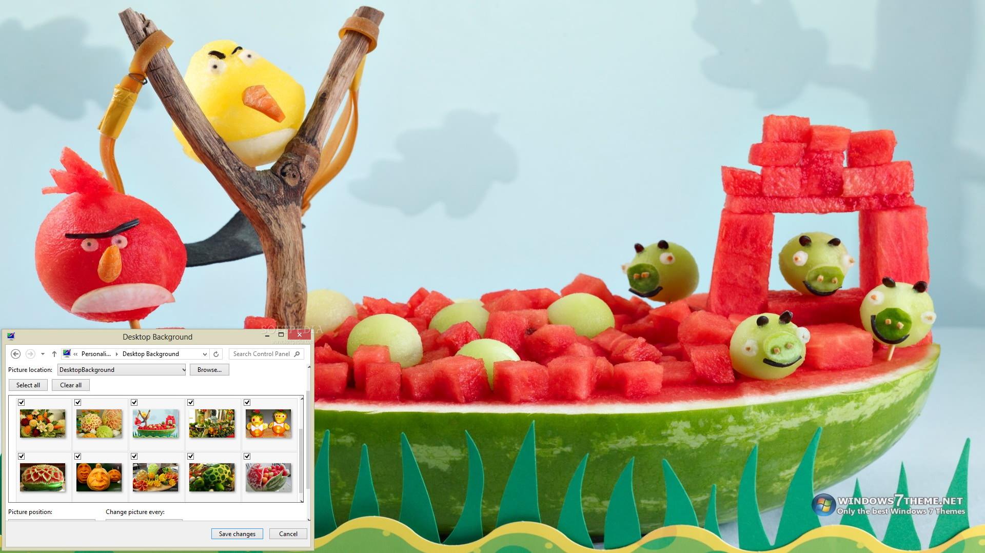 Fruit Carving Windows 7 Theme