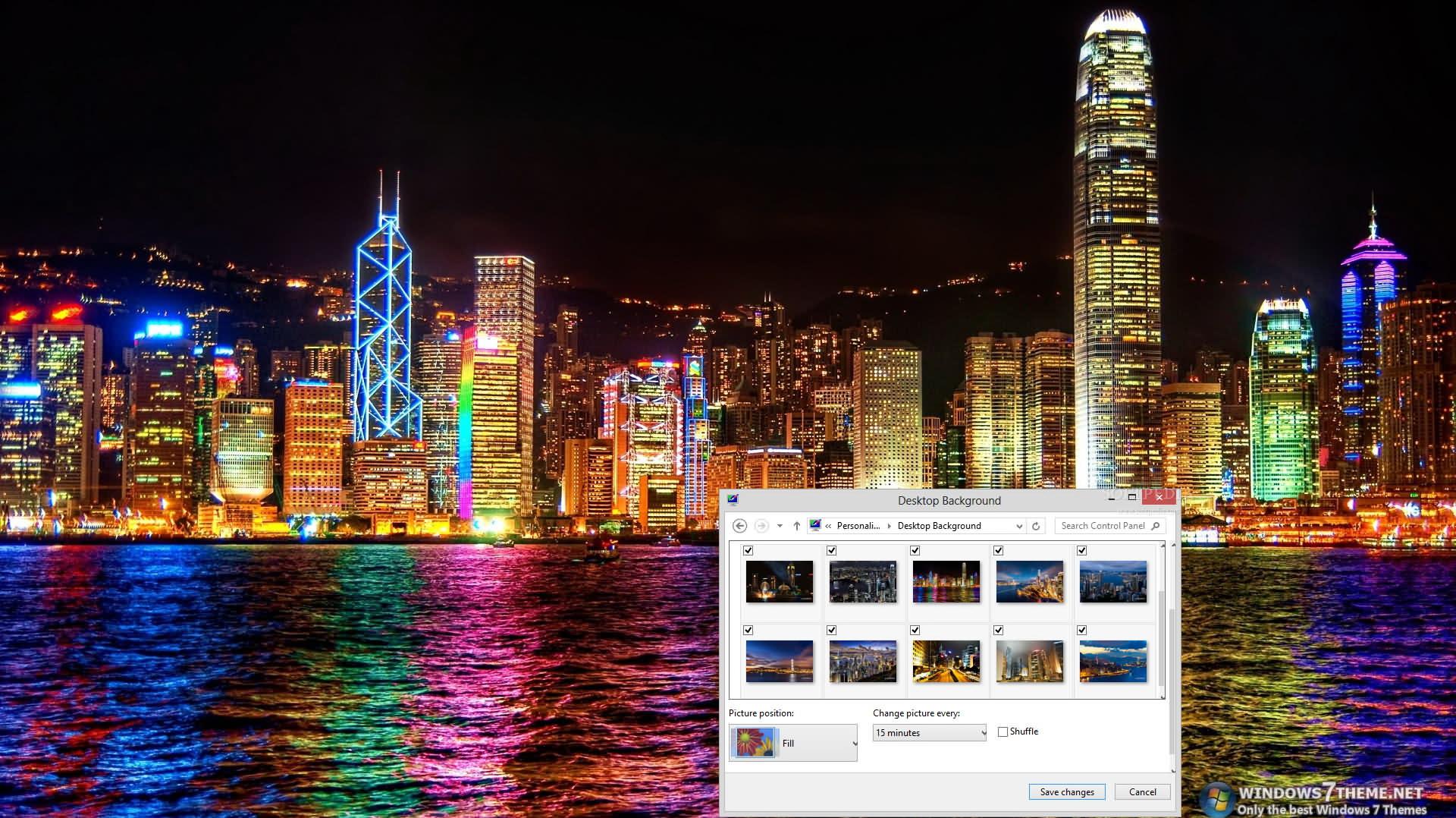 Hong Kong Windows 7 Theme