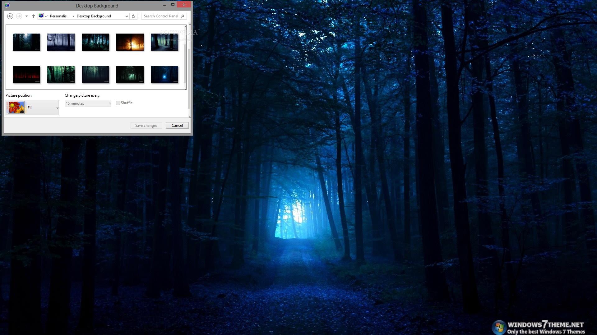 Dark Forest Windows 7 Theme