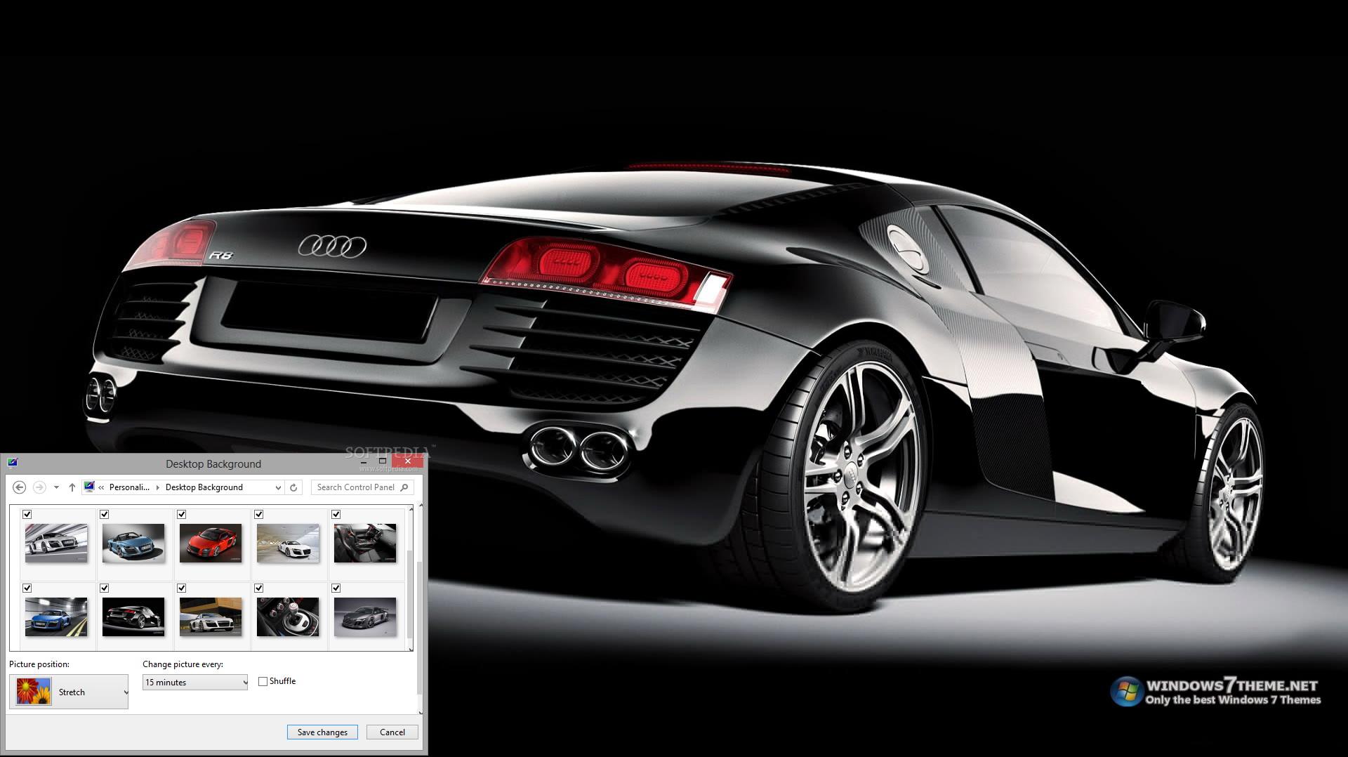 Audi R8 Windows 7 Theme