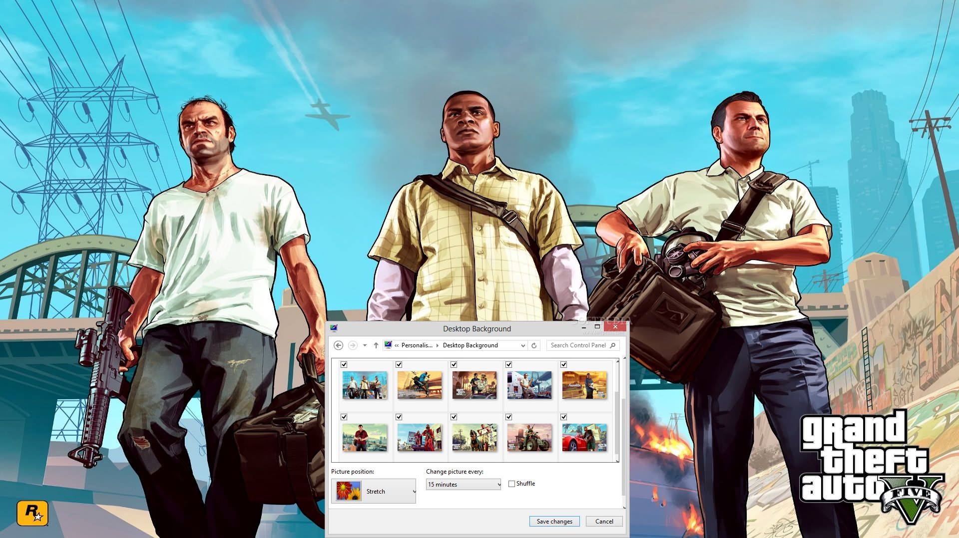 Grand Theft Auto V Windows 7 Theme
