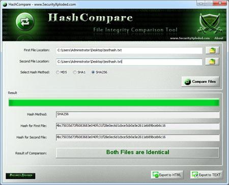 Hash Compare