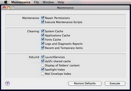 Maintenance For Mac OS X 10.8 (MOUNTAIN LION)