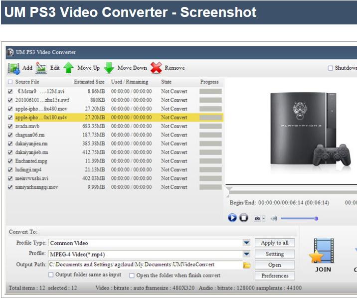 UM PS3 Video Converter