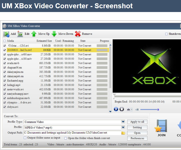 UM XBox Video Converter