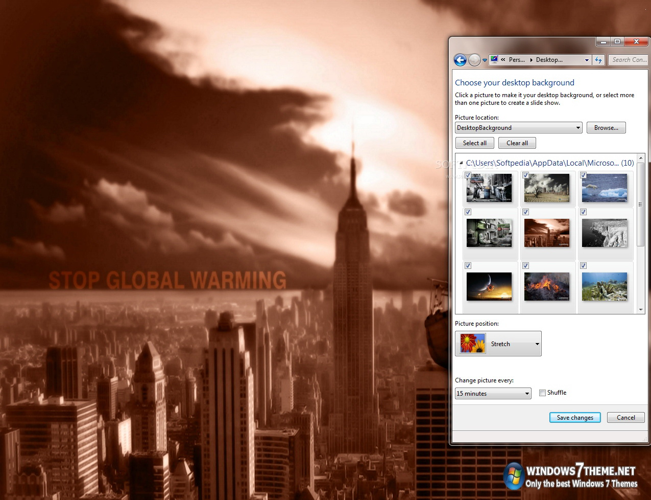 Global Warming Windows 7 Theme
