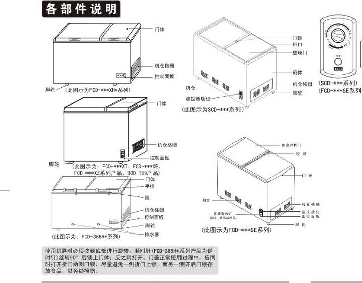 海尔FCD-181XE冷藏冷冻柜使用说明书