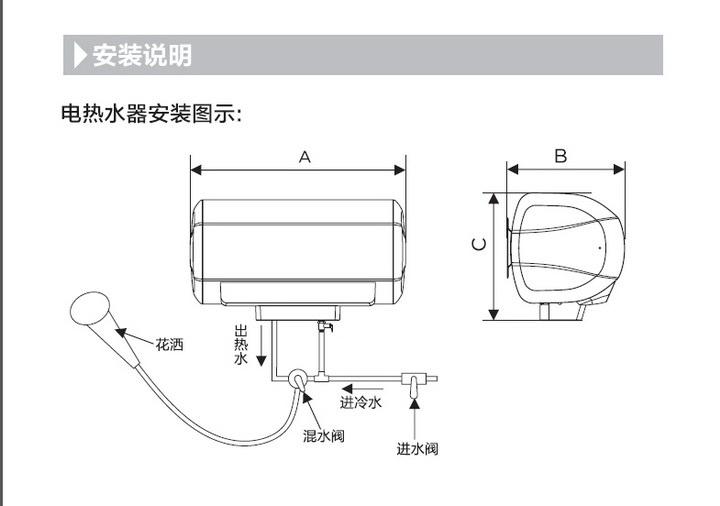 美的F60-30BQ1(E)(遥控)电热水器使用说明书