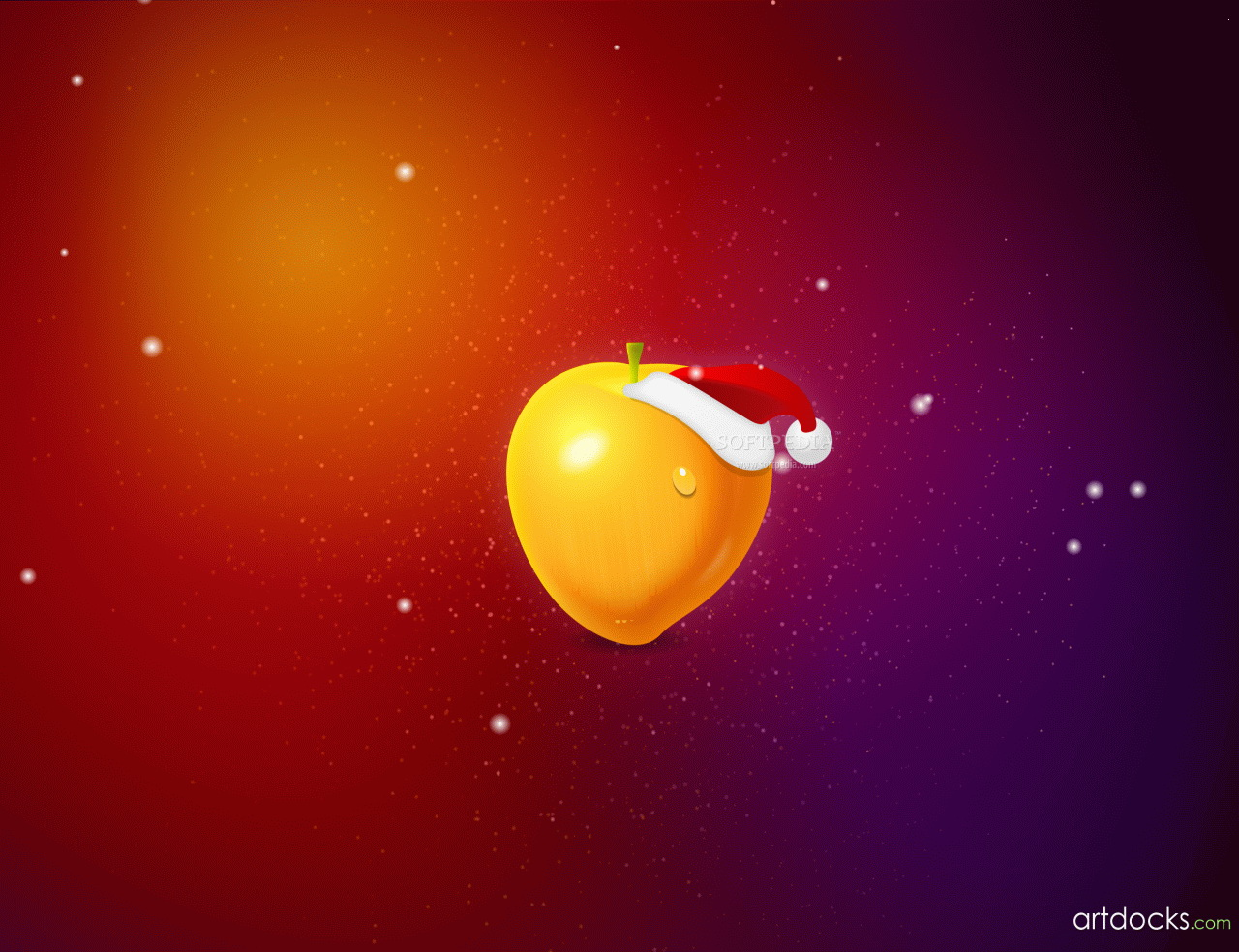 Fruit Christmas Desktop Wallpaper