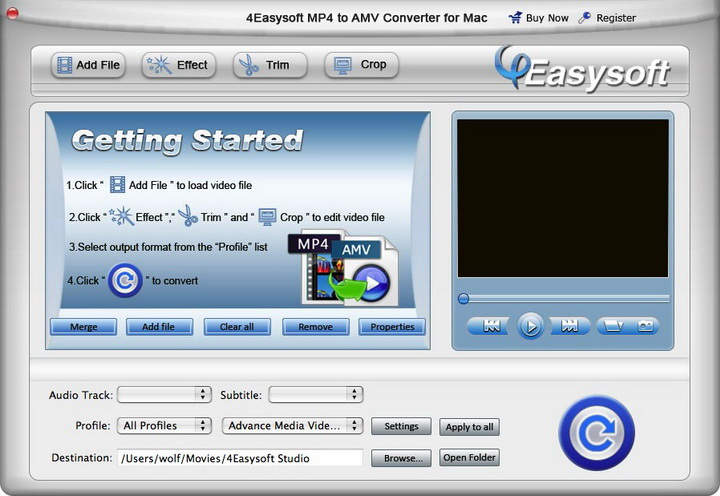 4Easysoft MP4 to AMV Converter for Mac