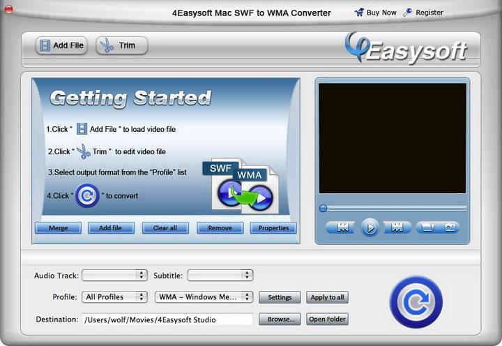 4Easysoft Mac SWF to WMA Converter