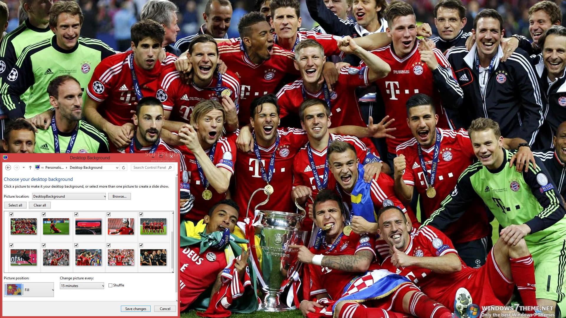 FC Bayern Windows 7 Theme