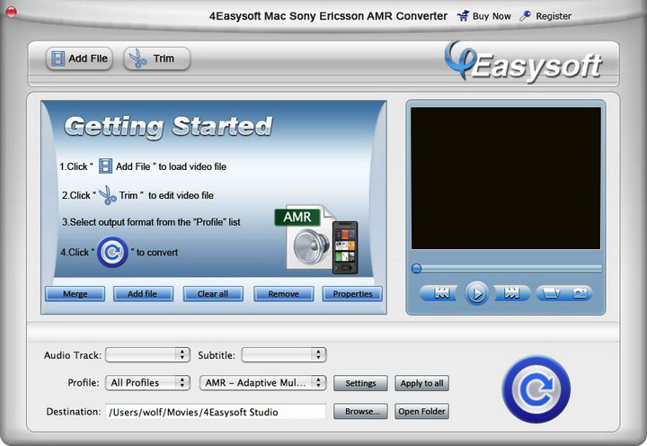 4Easysoft Mac Sony Ericsson AMR Converter