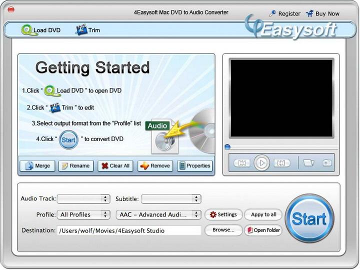 4Easysoft Mac DVD to Audio Converter